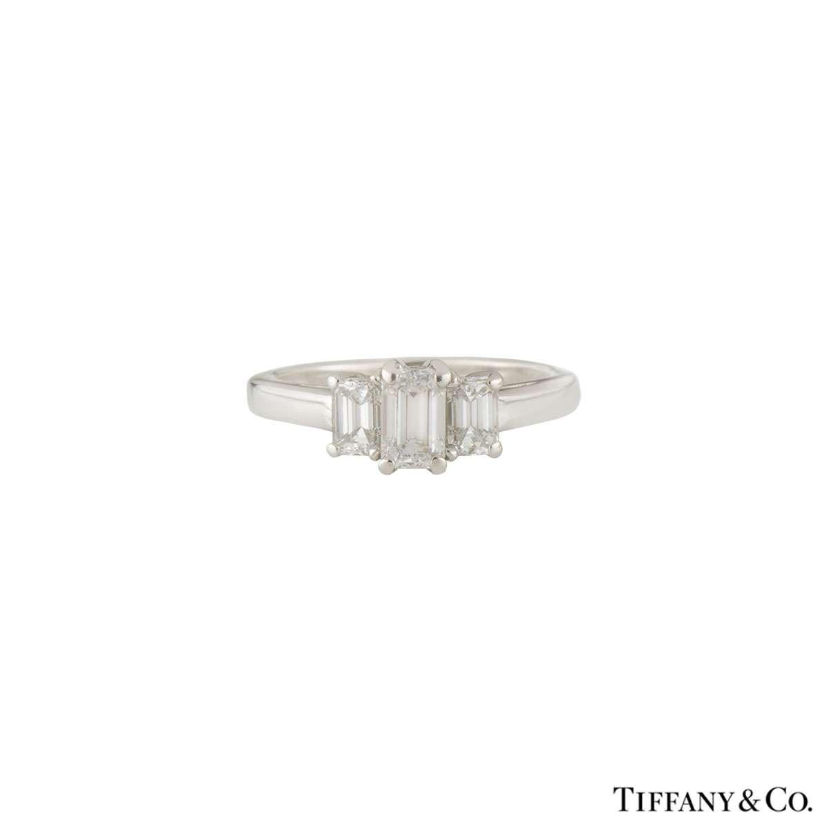 Tiffany Co Platinum Lucida 2mm Wedding Band Ring Sz 8: Tiffany & Co. Trilogy Ring